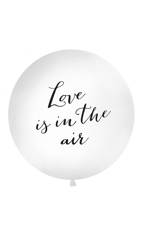 Balon 1m White Love is in the air