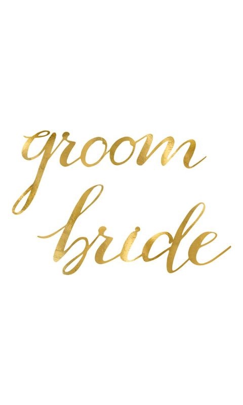 Zawieszki Gold Bride Groom