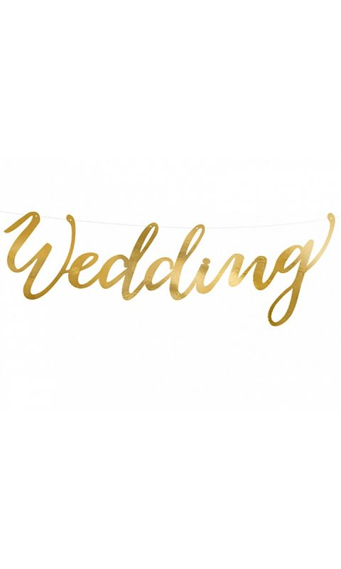 Girlanda Gold Wedding