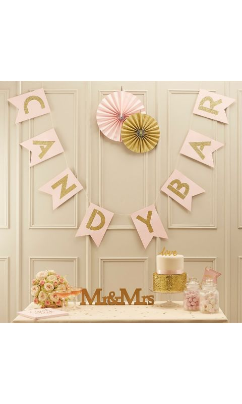 Girlanda Pink&Gold Candy Bar