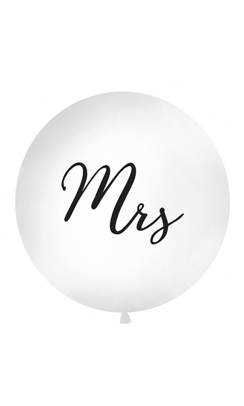 Balon 1 m White Mrs